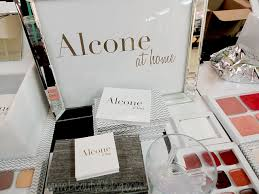 when i was at the makeup show nyc a few weeks ago i was introduced to a new business called alcone at home that imately caught my eye