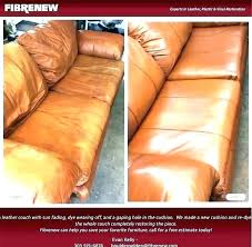fixing leather sofa cushions re couch cushion repairing scratches ling repair furniture beautiful g off why
