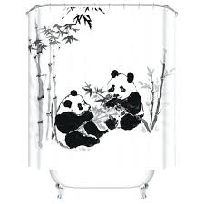 classical style panda shower curtains bathroom curtain bathroom s waterproof accessories y red panda shower curtain
