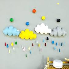 baby wall decor cartoon colorful wall stickers wadding cloud raindrop removable kids baby room nursery creative baby wall decor safari nursery