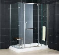 Glass For Bathroom Bathroom Interesting Nemo Tile Wall With Glass Shower Door And