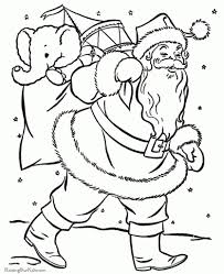 Santa Claus Coloring Pages Bag Of Toys for Coloring Pages Of Santa ...