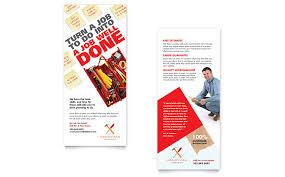 free handyman flyer template handyman services rack card template word publisher