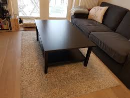 ikea hemnes coffee table black brown good condition