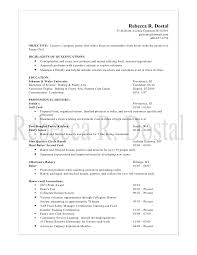 culinary resume objective sample resume for chef