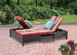 amazoncom  double chaise lounger  this red stripe outdoor