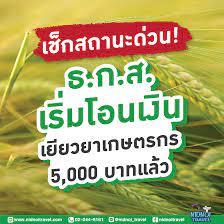 Nidnoi Travel - ✓เช็กสถานะด่วน! ธ.ก.ส. เริ่มโอนเงิน เยียวยาเกษตรกร 5,000  บาทแล้ว✓ จากกรณีธนาคารเพื่อการเกษตรและสหกรณ์การเกษตร (ธ.ก.ส.) เปิดให้เกษตรตรวจเช็กข้อมูล  ตรวจสอบสิทธิ์รายชื่อ และข้อมูล ทางเว็บไซต์ www.เยียวยาเกษตรกร.com  อย่างเป็นทางการเมื่อ ...