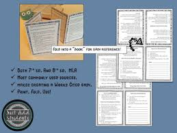cited sources mla mla citation works cited research writing resource by just add students