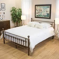 Amazon.com: Bradford Cal King Dark Copper Gold Bed Frame: Kitchen ...