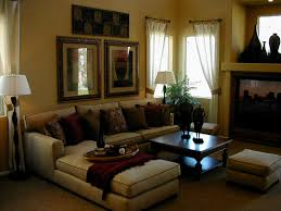 beige accent ch apartment living room decorating ideas natural light brown wooden floor idea high glass