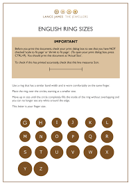 Ring Size Chart Phone How Do U Measure Ring Size