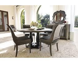 wondrous nailhead trim dining table bernhardt belgian oak pc dining furniture full size