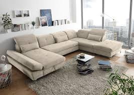 Details Zu Couch Melfi R Sofa Schlafcouch Wohnlandschaft Schlaffunktion Sand Beige U Form