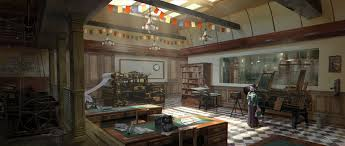 steampunk office. Steampunk Office. C.o.t: The Newspaper Office By Wang2dog B
