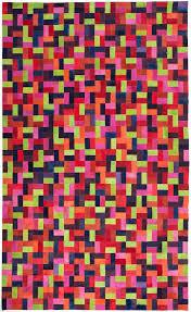 bloc colorful modern leather area rug jpg