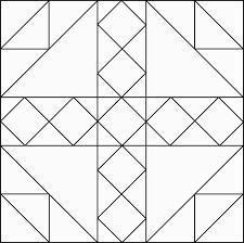 (2) 1 1/2 x 2 1/2 rectangles, (2) 1 1/2 x 3 1/2. Geometrico 84 Block Modello Disegno Etc Barn Quilt Patterns Quilt Block Patterns Quilt Patterns