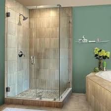 clear shower doors standard size classic semi 3 inch glass swing shower door clear