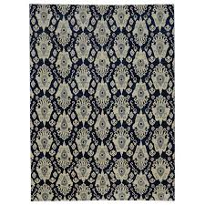 new modern transitional ikat rug navy blue ikat area rug for at 1stdibs