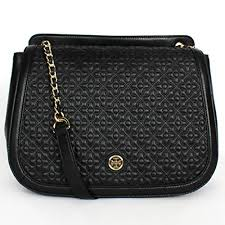 Tory Burch Bryant Quilted Leather Shoulder Bag / Handbag Black ... & Tory Burch Bryant Quilted Leather Shoulder Bag / Handbag Black Adamdwight.com