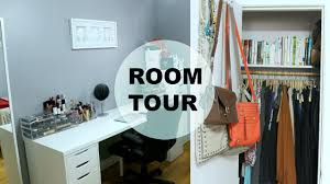 room tour office organization makeup storage tips to make a small room look bigger natalie loves beauty