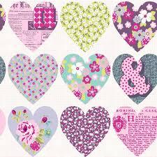 Pink Wallpaper Bedroom Heart Themed Wallpaper Girls Bedroom Pink Various Designs