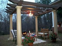 battery powered gazebo chandelier outdoor for pergola operated