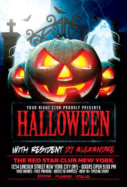 halloween template flyer halloween nightclub party flyer template photoshop awesomeflyer com