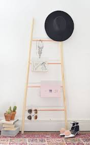 diy teen room decor ideas for girls diy wood copper and wood ladder shelf cool bedroom decor wall art signs crafts bedding fun do it yourself