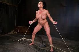 Muscle women in tight bondage