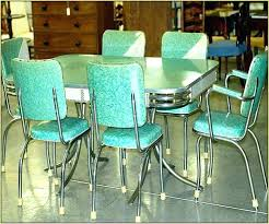 metal kitchen table. 1950s Metal Kitchen Table Green And Chairs Vintage