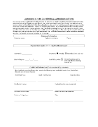 Automatic credit card billing authorization form Fill Online ... Fill Online. Related Content - MasterCard. Recurring Payment Authorization Form-- ...