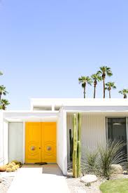 modern front doors. Take A Self-guided Palm Springs Door Tour To Check Out All The Bright \u0026 Modern Front Doors