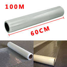 carpet protector film. 60cm x 100m roll self adhesive carpet protector protection film-60 micron thick film