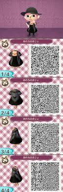 noir dress with fur animal crossing new leaf qr code