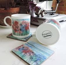 Elegant Artistic Coffee Mugs Unique Artist Printed China Mugs
