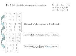 ex 5 solve the following system of equations 3x1 2x2 3x3