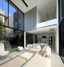 modern house in bangkok glass walls