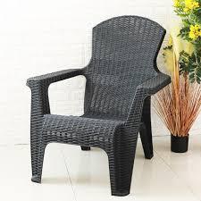 outdoor furniture rattan pp stackable
