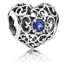 pandorasilver september birthstone signature heart charm 791784ssa