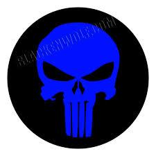 justpict com thin blue line skull