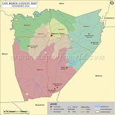 Van Buren County Map Tn Map Of Van Buren County Tennessee