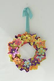 easter craft: paper flower wreath