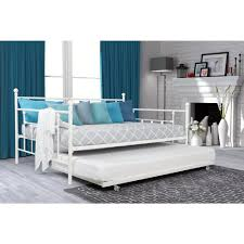 full bed with trundle. Delighful Bed DHP Manila White Trundle Day Bed For Full With
