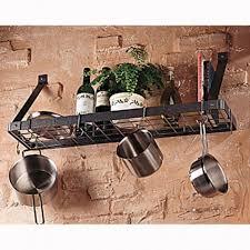 10 hanging pot and pan rack organizer