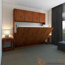 Horizontal Urban Murphy Bed with Top Hutch