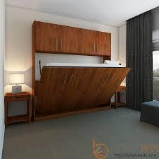 horizontal urban murphy bed w top hutch transitioning