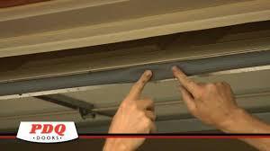 garage door not sealing garage door weather seal options pdq doors cincinnati ohio you