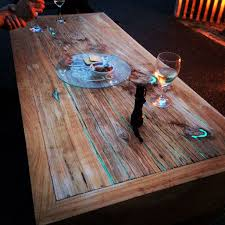 unique wood furniture. Furniture Unique Wood The Best How To Make A Wooden Table With Glowinthedark Resin Pict S