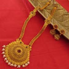 golden single pendant long chain