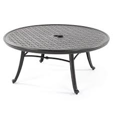 42 round cast aluminum cocktail table outdoor coffee clearance m